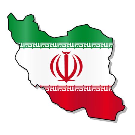 iranian: Iranian flag map Illustration