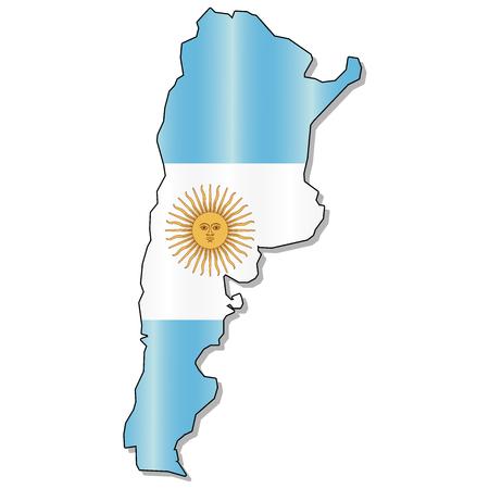 bandera argentina: Argentina Mapa de la bandera