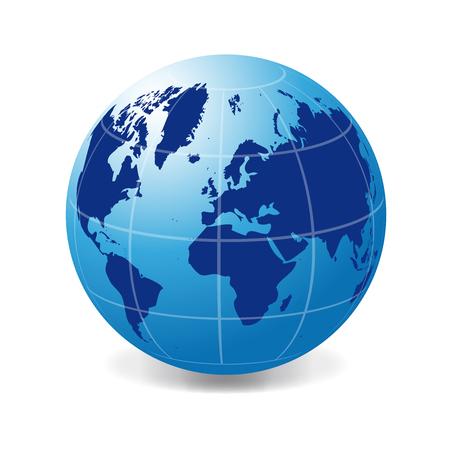 world flag: International blue globe Illustration