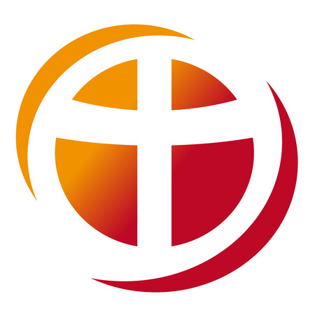 Red Christian cross isolated Ilustração