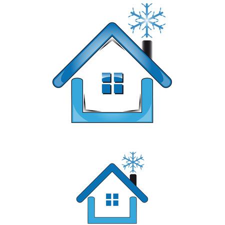 utilities: House utilities cold for winter season Illustration
