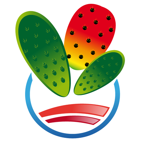 prickly pear: Abstract icon of pricklypear