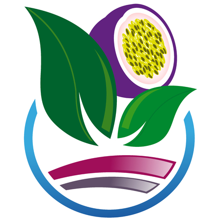 passion fruit: Abstract icon of passion fruit