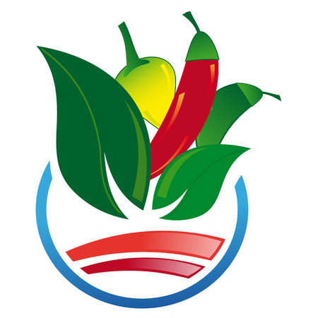 kilos: Abstract icon of peppers