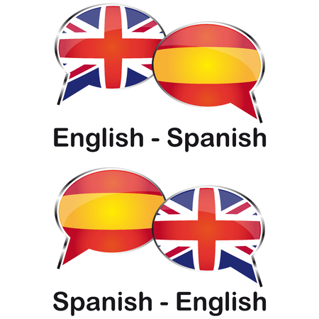 Inglese spanish translator cloud Illustration
