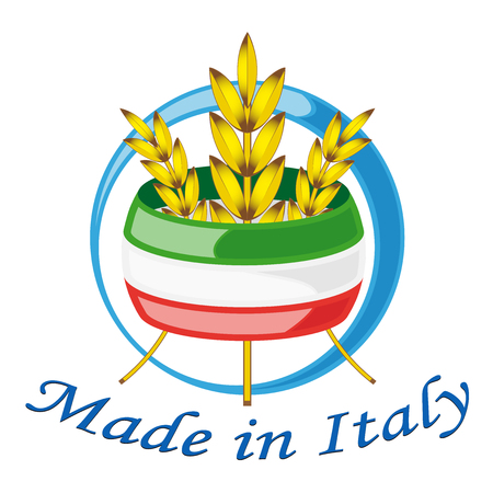Italy weat for food 向量圖像