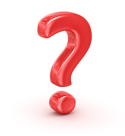 Red Question Mark Stock Photo - 16960140