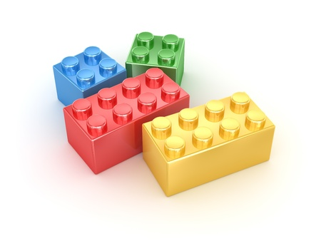 Colorful block , computer generated image  3d render