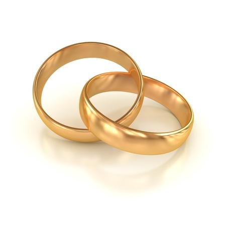 결혼 반지, 컴퓨터 생성 이미지는 3 차원 렌더링 스톡 콘텐츠