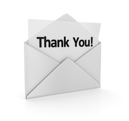computer generated image: Thank you , computer generated image  3d render
