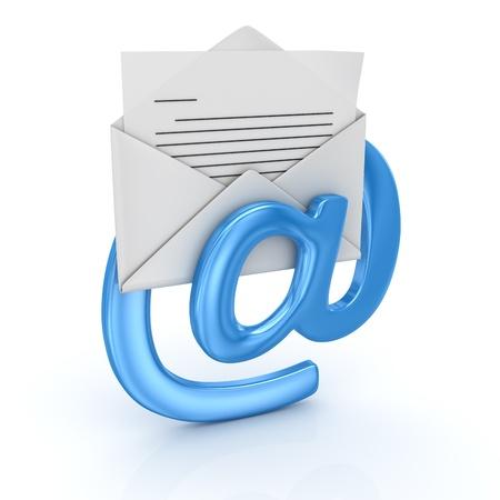 E-메일 개념, 컴퓨터 생성 이미지는 3 차원 렌더링 스톡 콘텐츠