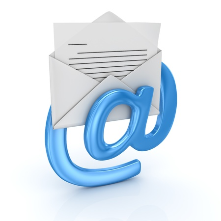 computer generated image: E-Mail concetto, generato dal computer immagine 3D rendering