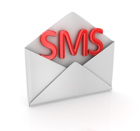 Sms concept , computer generated image  3d render Stock Photo - 16986211
