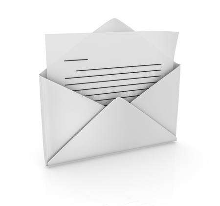 computer generated image: Envelope , computer generated image  3d render  Stock Photo
