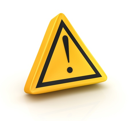 warning sign: Road sign , computer generated image  3d render  Stock Photo