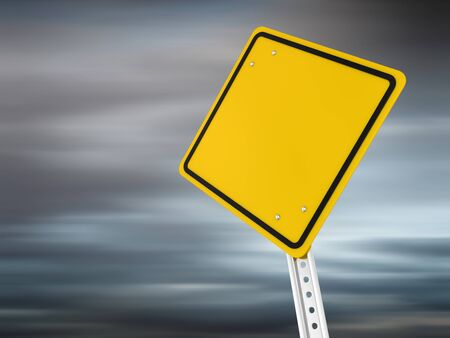 Blank road sign , computer generated image. 3d render. Stock Photo