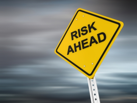 Risk ahead , computer generated image. 3d render. Stock Photo - 17022735