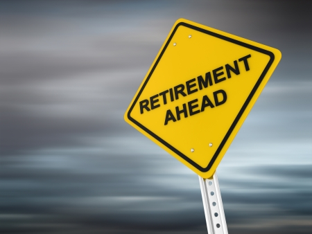 Retirement ahead , computer generated image  3d render  Stock Photo