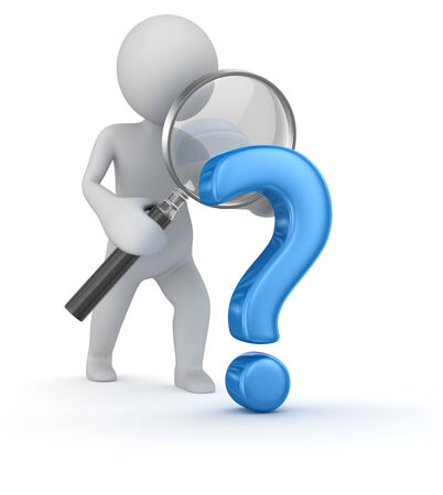 Question mark search , computer generated image. 3d render. Stock Photo