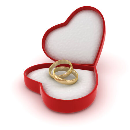 Wedding rings , computer generated image. 3d render. Stock Photo
