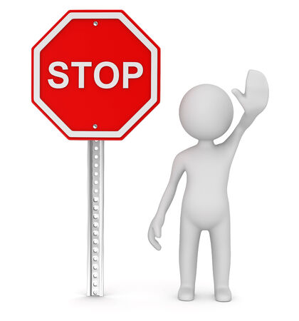 Stop road sign , computer generated image. 3d render.