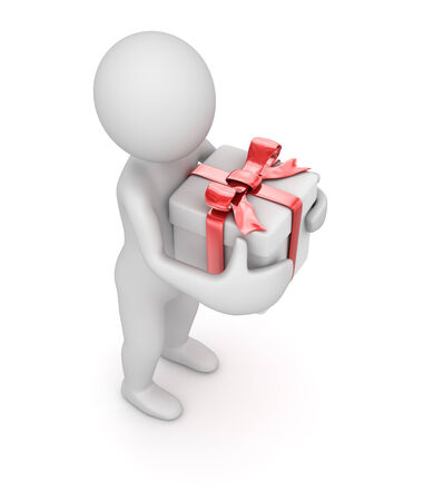 Gift box , computer generated image. 3d render.