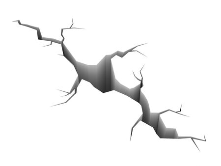 computer generated image: Cracked strada, immagini generate al computer. Rendering 3D. Archivio Fotografico