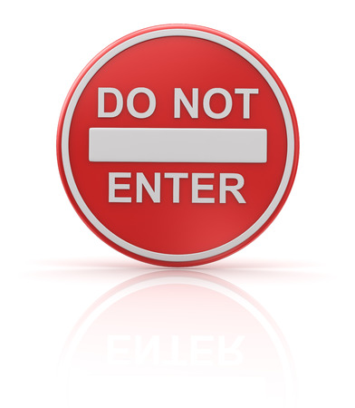 Do not enter , computer generated image  3d render  photo