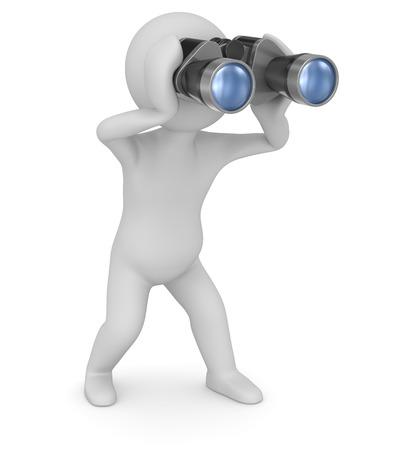 Binoculars , computer generated image  3d render