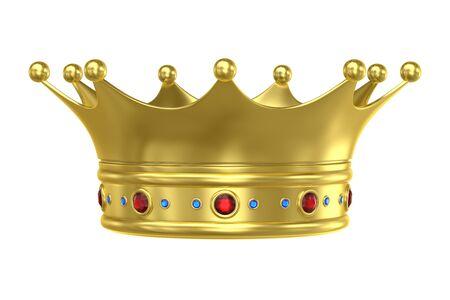 King Crown , computer generated image. 3d render.