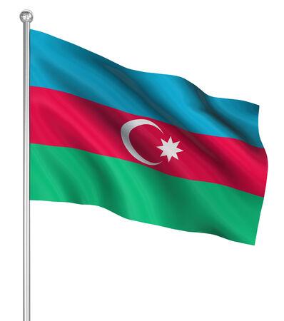 computer generated image: Azerbaijan bandiera, immagini generate al computer. Rendering 3D.