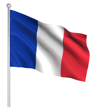 France flag , computer generated image. 3d render. photo