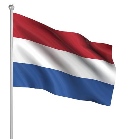 computer generated image: Olanda bandiera, immagini generate al computer. Rendering 3D.