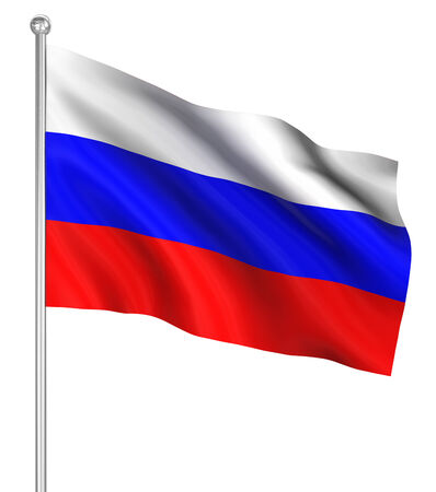 Russia flag , computer generated image. 3d render.