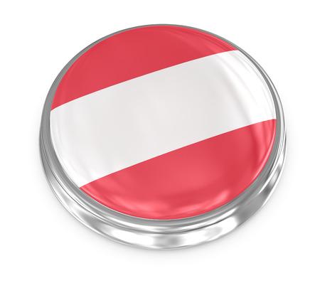 Austria badge , computer generated image. 3d render. photo