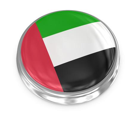 computer generated image: United Arab Emirates badge , computer generated image. 3d render.