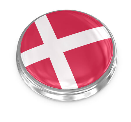 computer generated image: Denmark badge , computer generated image. 3d render.