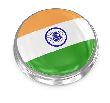 India badge , computer generated image. 3d render.