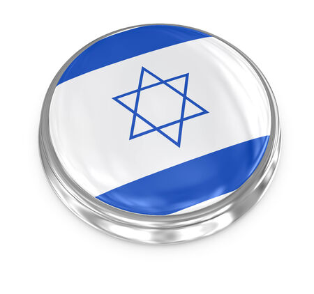 computer generated image: Israel badge , computer generated image. 3d render.