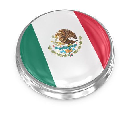 computer generated image: Mexico badge , computer generated image. 3d render.