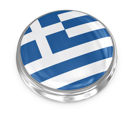 Greece badge , computer generated image. 3d render. Stock Photo