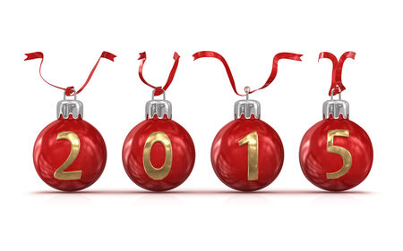 New year 2015, computer generated image. 3d render.