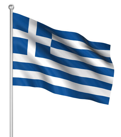 computer generated image: Greece flag , computer generated image. 3d render.