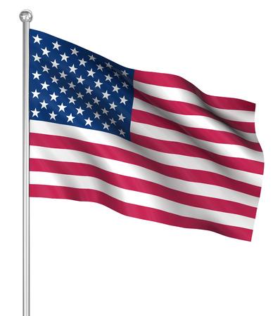 computer generated image: America bandiera, immagini generate al computer. Rendering 3D.