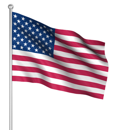 computer generated image: America flag , computer generated image. 3d render.