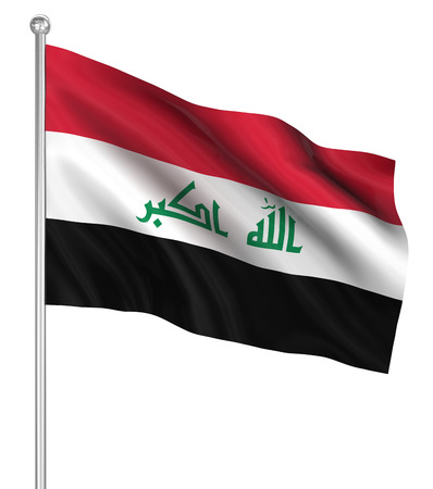 Iraq flag , computer generated image. 3d render.