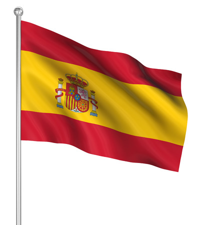 computer generated image: Spain flag , computer generated image. 3d render.