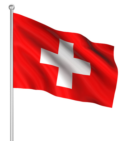 switzerland flag: Switzerland flag , computer generated image. 3d render. Stock Photo