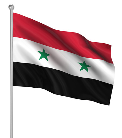 computer generated image: Syria flag , computer generated image. 3d render.
