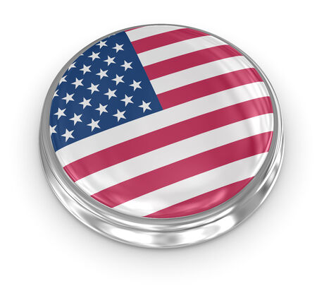 computer generated image: America badge , computer generated image. 3d render. Stock Photo